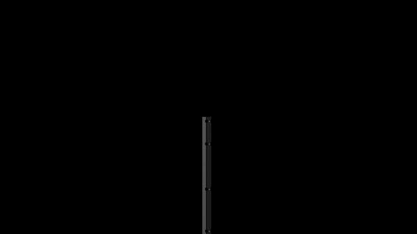 Pfosten mit Abdeckleiste für 1030 mm Doppelstabmattenzaun BERLIN - 60x40 mm - RAL 7016 Anthrazitgrau