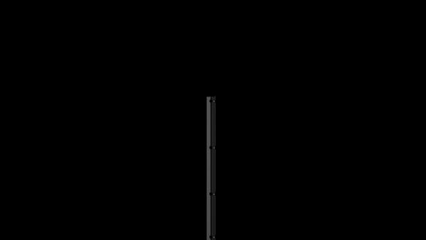 Pfosten mit Abdeckleiste für 1230 mm Doppelstabmattenzaun BERLIN - 60x40 mm - RAL 7016 Anthrazitgrau