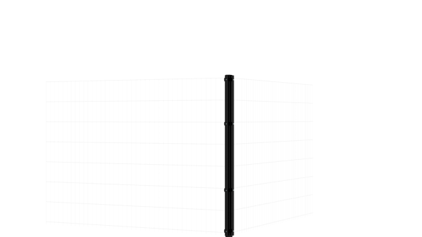 Eckpfosten mit Abdeckschiene für 1430 mm Doppelstabmatte BERLIN - 60x60 mm - RAL 7016 Anthrazitgrau
