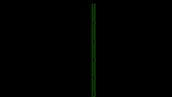Eckpfosten mit Abdeckleiste für 2030 mm Doppelstabmattenzaun BERLIN - 60x60 mm - RAL 6005 Moosgrün