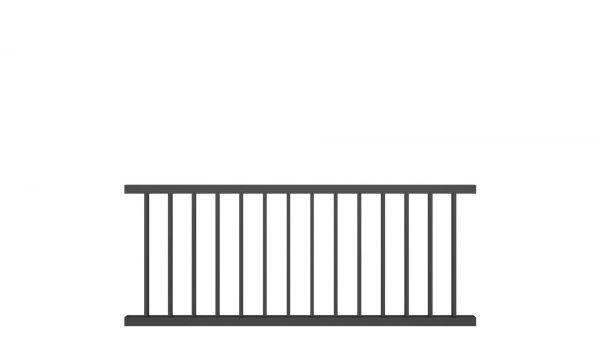 Zaunelement BASIC von zaunguru.de - Modell Bremen / Höhe: 800 mm / Breite: 1995 mm / Farbe: RAL 7016