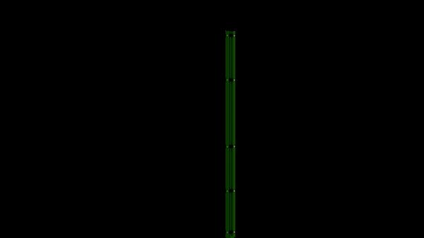 Eckpfosten mit Abdeckleiste für 1830 mm Doppelstabmattenzaun BERLIN - 60x60 mm - RAL 6005 Moosgrün