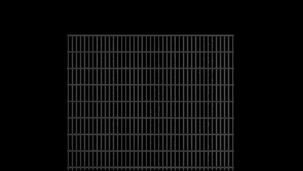 Doppelstabzaun 8/6/8 Modell BERLIN - Höhe: 1630 mm - Breite: 2510 mm - RAL 7016 Anthrazitgrau