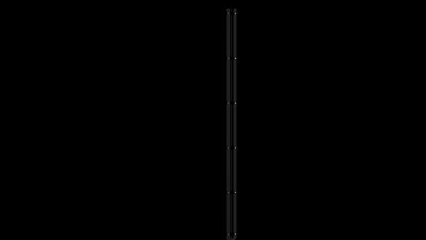 Eckpfosten mit Abdeckschiene für 2030 mm Doppelstabmatte BERLIN - 60x60 mm - RAL 7016 Anthrazitgrau