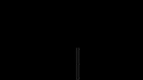 Eckpfosten mit Abdeckschiene für 830 mm Doppelstabmatte BERLIN - 60x60 mm - RAL 7016 Anthrazitgrau