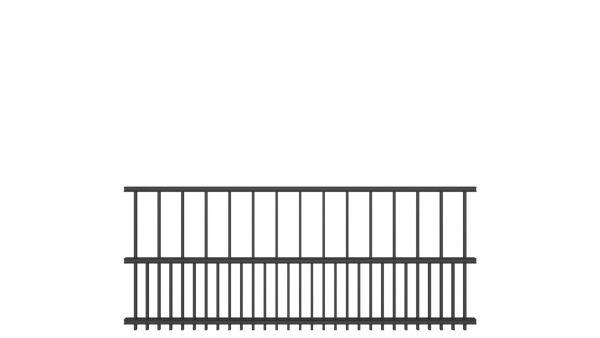 Zaunelement BASIC von zaunguru.de - Modell HAMBURG / Höhe: 815 mm / Breite: 1996 mm / Farbe: RAL 7016