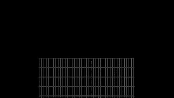 Doppelstabzaun 8/6/8 Modell BERLIN - Höhe: 830 mm - Breite: 2510 mm - RAL 7016 Anthrazitgrau