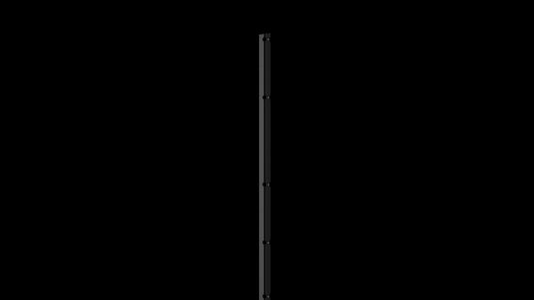 Pfosten mit Abdeckleiste für 1830 mm Doppelstabmattenzaun BERLIN - 60x40 mm - RAL 7016 Anthrazitgrau