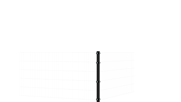 Eckpfosten mit Klemmen für 1030 mm Doppelstabmatte BERLIN - 60x60 mm - RAL 7016 Anthrazitgrau