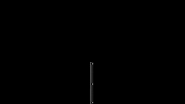 Pfosten mit Klemmhalter für 830 mm Doppelstabmattenzaun BERLIN - 60x40 mm - RAL 7016 Anthrazitgrau