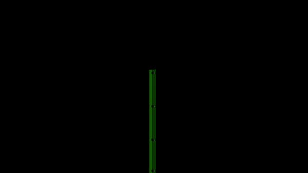 Zaunpfosten mit Abdeckschiene für 1230 mm Doppelstabmatte BERLIN - 60x40 mm - RAL 6005 Moosgrün