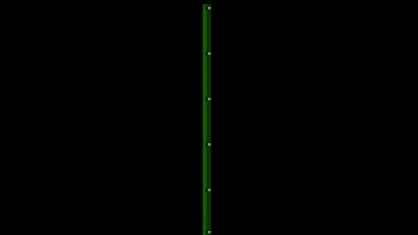 Zaunpfosten mit Klemmlasche für 2030 mm Doppelstabmatte BERLIN - 60x40 mm - RAL 6005 Moosgrün