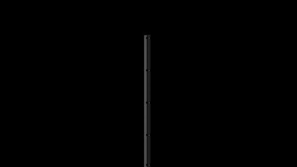 Pfosten mit Abdeckleiste für 1630 mm Doppelstabmattenzaun BERLIN - 60x40 mm - RAL 7016 Anthrazitgrau