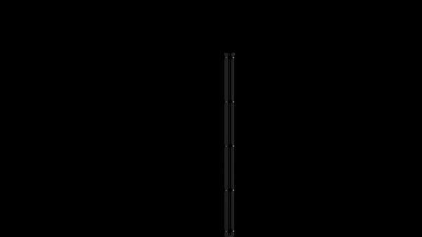 Eckpfosten mit Abdeckschiene für 1630 mm Doppelstabmatte BERLIN - 60x60 mm - RAL 7016 Anthrazitgrau