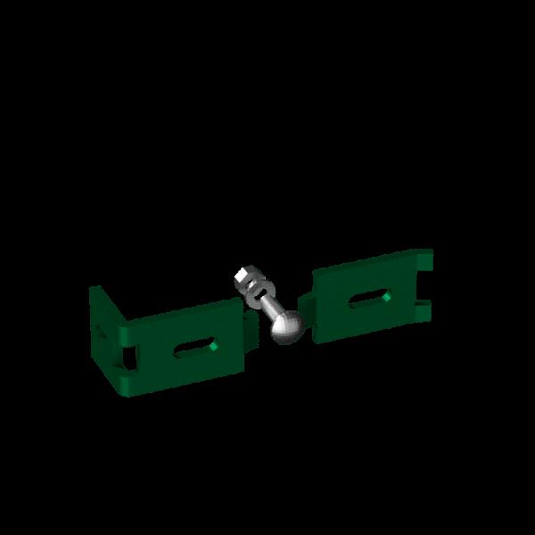 Anschlusswinkel für Doppelstabmattenzaun RAL 6005 Moosgrün