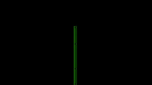 Zaunpfosten mit Abdeckschiene für 1430 mm Doppelstabmatte BERLIN - 60x40 mm - RAL 6005 Moosgrün