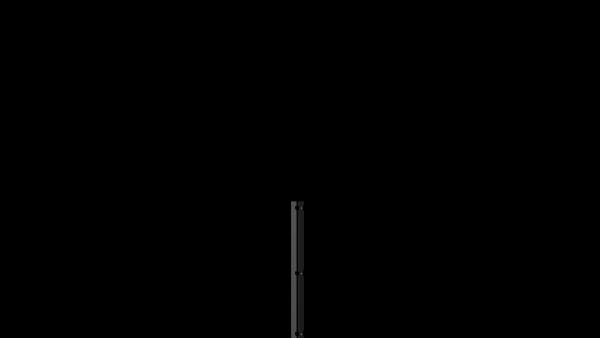 Pfosten mit Abdeckleiste für 830 mm Doppelstabmattenzaun BERLIN - 60x40 mm - RAL 7016 Anthrazitgrau