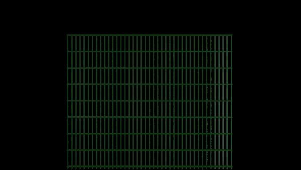 Gitterstabzaun 8/6/8 Modell BERLIN - Höhe: 1630 mm - Breite: 2510 mm - Farbe: RAL 6005 Moosgrün