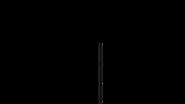 Eckpfosten mit Abdeckschiene für 1230 mm Doppelstabmatte BERLIN - 60x60 mm - RAL 7016 Anthrazitgrau