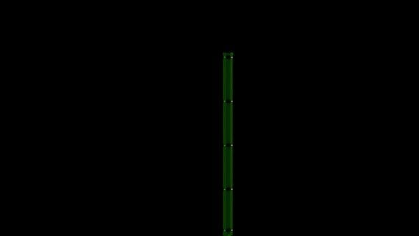 Eckpfosten mit Abdeckleiste für 1630 mm Doppelstabmattenzaun BERLIN - 60x60 mm - RAL 6005 Moosgrün
