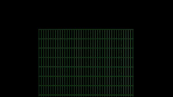 Gitterstabzaun 8/6/8 Modell BERLIN - Höhe: 1430 mm - Breite: 2510 mm - Farbe: RAL 6005 Moosgrün