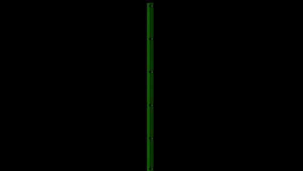 Zaunpfosten mit Abdeckschiene für 2030 mm Doppelstabmatte BERLIN - 60x40 mm - RAL 6005 Moosgrün