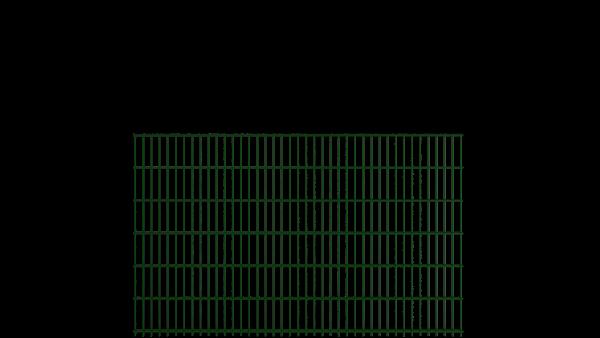 Gitterstabzaun 8/6/8 Modell BERLIN - Höhe: 1230 mm - Breite: 2510 mm - Farbe: RAL 6005 Moosgrün