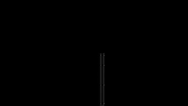 Eckpfosten mit Abdeckschiene für 1030 mm Doppelstabmatte BERLIN - 60x60 mm - RAL 7016 Anthrazitgrau