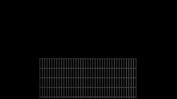 Doppelstabmattenzaun 6/5/6 Modell BERLIN - Höhe: 830 mm - Breite: 2510 mm - RAL 7016 Anthrazitgrau