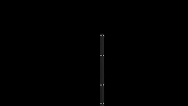 Eckpfosten mit Klemmen für 1430 mm Doppelstabmatte BERLIN - 60x60 mm - RAL 7016 Anthrazitgrau