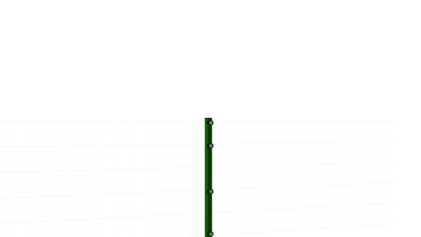 Zaunpfosten mit Klemmlasche für 1030 mm Doppelstabmatte BERLIN - 60x40 mm - RAL 6005 Moosgrün