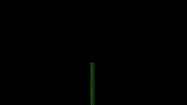 Zaunpfosten mit Abdeckschiene für 830 mm Doppelstabmatte BERLIN - 60x40 mm - RAL 6005 Moosgrün