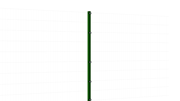 Zaunpfosten mit Klemmlasche für 1830 mm Doppelstabmatte BERLIN - 60x40 mm - RAL 6005 Moosgrün