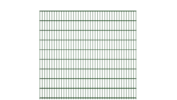 Gitterstabzaun 8/6/8 Modell BERLIN - Höhe: 1830 mm - Breite: 2510 mm - Farbe: RAL 6005 Moosgrün
