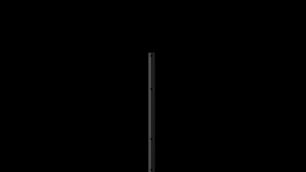 Pfosten mit Abdeckleiste für 1430 mm Doppelstabmattenzaun BERLIN - 60x40 mm - RAL 7016 Anthrazitgrau