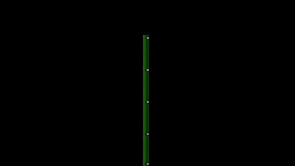 Zaunpfosten mit Klemmlasche für 1630 mm Doppelstabmatte BERLIN - 60x40 mm - RAL 6005 Moosgrün