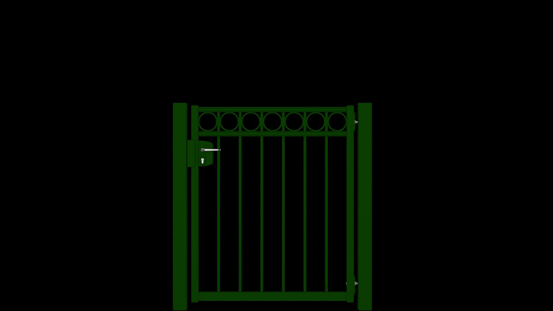 gartent r set der zaunguru basic linie mit locinox. Black Bedroom Furniture Sets. Home Design Ideas