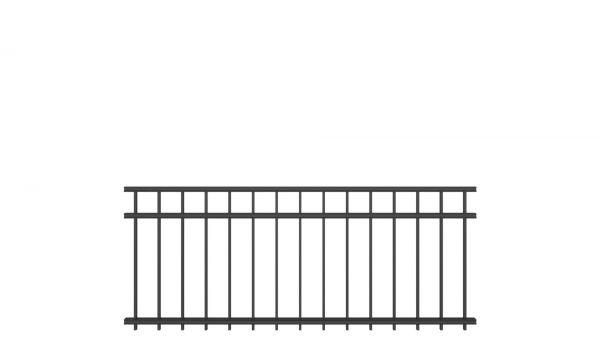 Zaunelement BASIC von zaunguru.de - Modell OLDENBURG / Höhe: 815 mm / Breite: 1996 mm / Farbe: RAL 7016